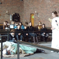 Jasełka wystawione przez dzieci z polskiej szkoły 17.01.2009